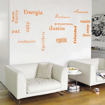 Decorar con frases las paredes