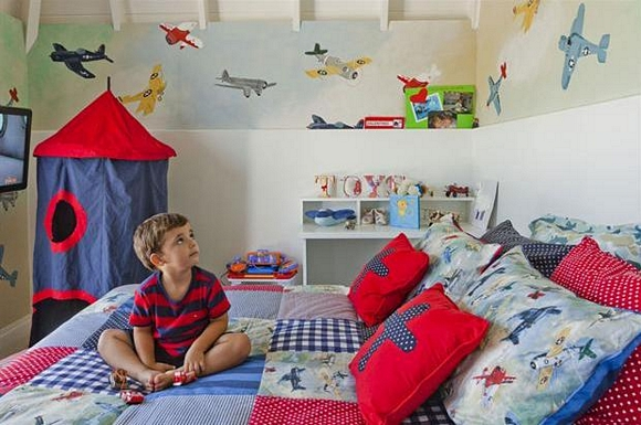 Decoracin infantil con aviones