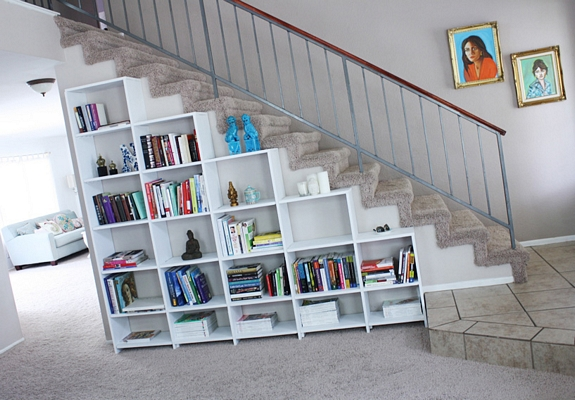 Librer a adaptada a la escalera dec ralos for Escaleras libreria