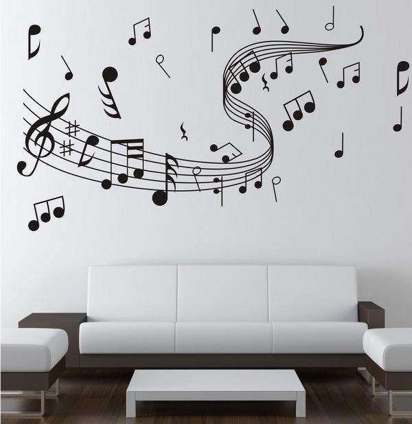 5 ideas para decorar una pared sin colocar clavos dec ralos for Vinilos decorativos instrumentos musicales