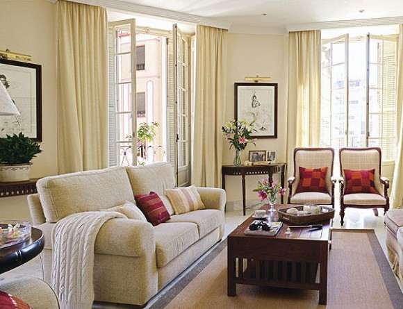 5 ideas para decorar con color beige dec ralos for Cortinas para salon beige