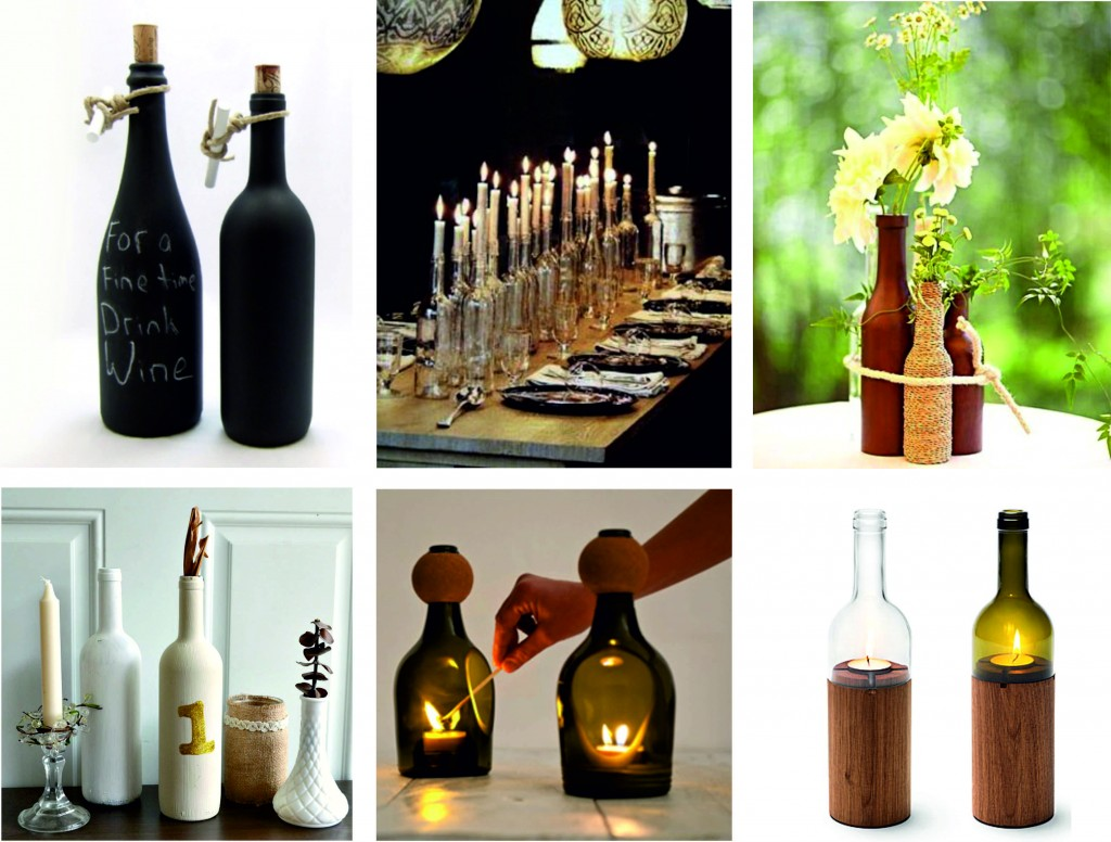 Tres ideas para reciclar botellas de cristal y cambiar la for Articulos decoracion casa