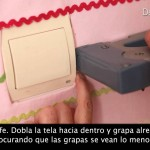 Pared entelada para la decoración del dormitorio infantil