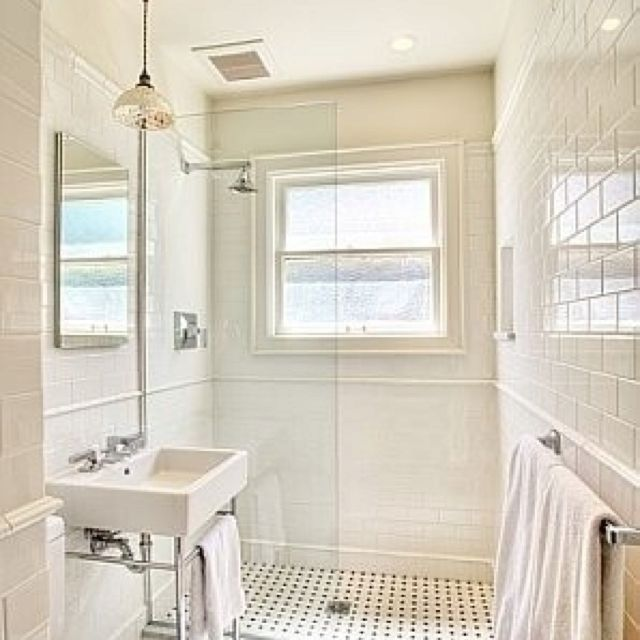 Amueblar Baño Pequeno:Craftsman Bathroom Shower Tile