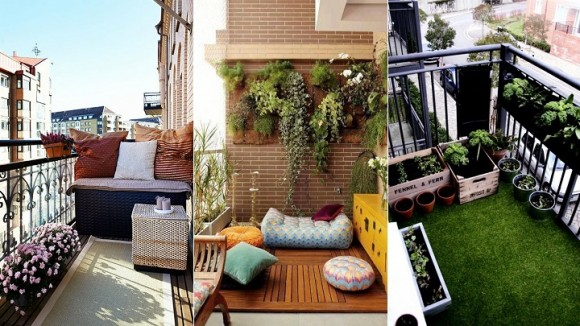 ideas para decorar balcones en fotos